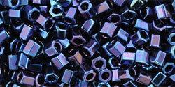 8/0 Hex Toho Opaque Blue AB 88