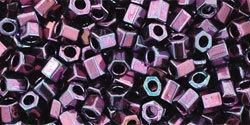 8/0 Hex Toho Opaque Violet AB 504