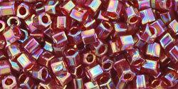 8/0 Hex Toho Tr Ruby AB 165c