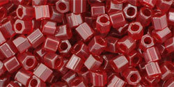 8/0 Hex Toho Tr Ruby Red 5c