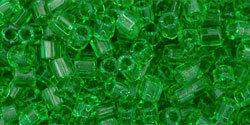 8/0 Hex Toho Tr Peridot Green 7