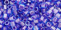 8/0 Hex Toho Aqua Violet Colour Lined 361