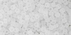 11/0 Round Toho Ceylon Snowflake Matte 141f