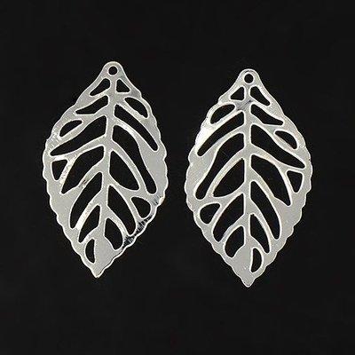 Leaf Charm Silver 23mm