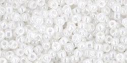 15/0 Round Toho Ceylon Snowflake White 141