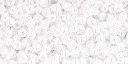 15/0 Round Toho Opaque White Lustre 121