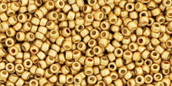 15/0 Round Toho Gold Metallic Matte pf557f