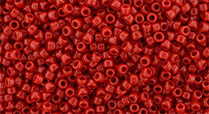 15/0 Round Toho Opaque Cherry Red 45a