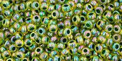 15/0 Round Toho Transparent Jonquil Green c/l 1829