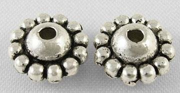 Spacer Bead Antique  Silver 9x5mm