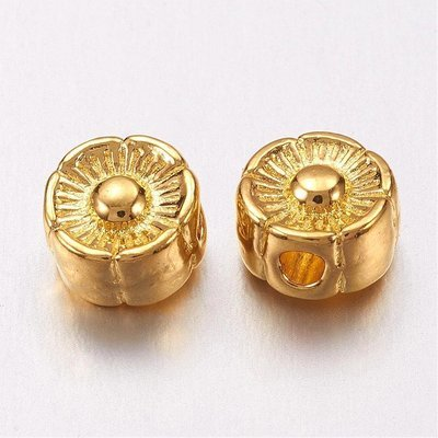 Flower Bead Gold 6mm
