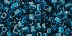 8/0 Hex Toho Transparent Capri Blue Matte 7bdf