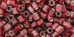 8/0 Hex Toho Ruby Red s/l Matte 25cf