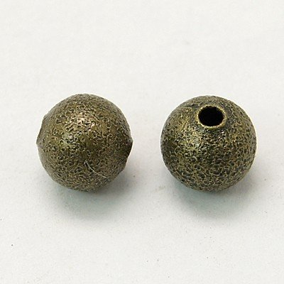 Stardust Bead Antique Brass 6mm