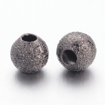 Stardust Bead Gunmetal 4mm