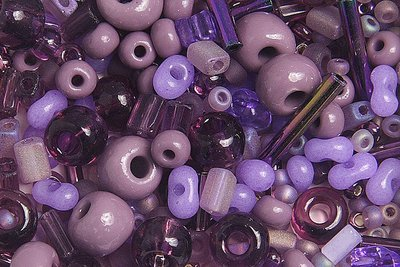 10/0 Round Czech Purple Mix 1001-06