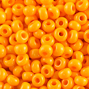 10/0 Round Czech Opaque  lt Orange 1004