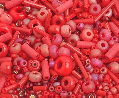 10/0 Round Czech Seed Bead Red Mix 1001-01