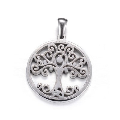 316 Stainless Steel Pendant Tree of Life 25mm