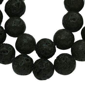 6mm Natural Lava Bead  15