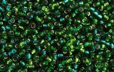 10/0 Round Czech Green s/l Mix 2000