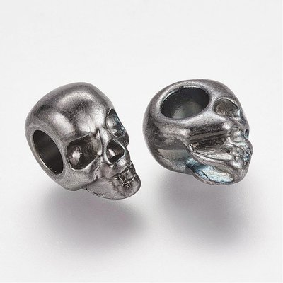 Skull Gunmetal  12x10x8mm