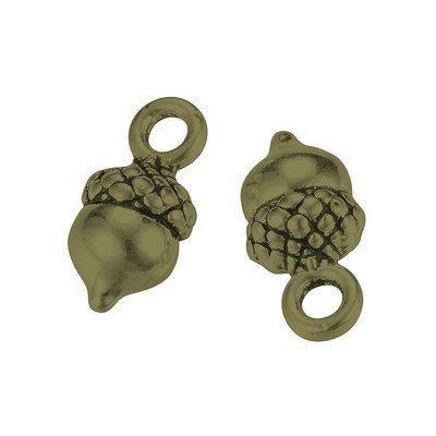 Acorn Charm Antique Bronze 14x7x6mm