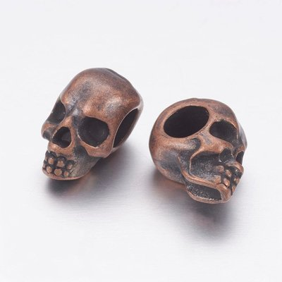 Skull Antique Copper  12x10x8mm