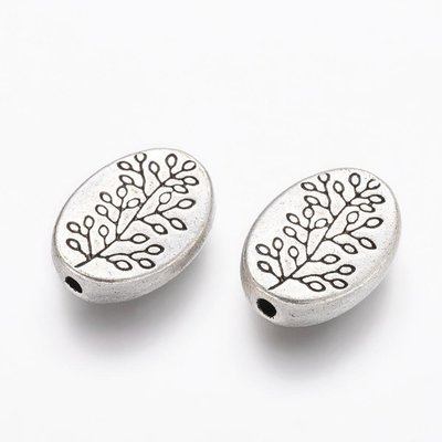 Branch Bead Antique Silver 14x10mm