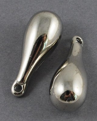 Drop Dangle Platinum 26x10mm