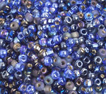 6/0 Round Czech Multi Blue 097