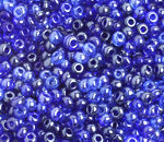 6/0 Round Czech Multi Blue Lustre 140