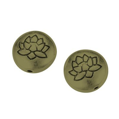 Lotus Bead Antique Brass 14x6.5mm