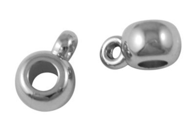 Bail Hanger Bead Platinum 11x8x5mm