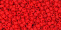 11/0 Round Toho Opaque Cherry Red  mt  45af