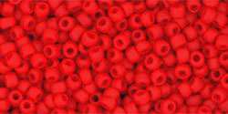 11/0 Round Toho Opaque Cherry Red  mt  45af