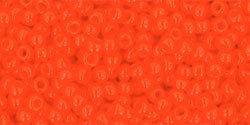 11/0 Round Toho Opaque Orange  50