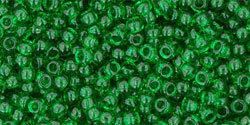 11/0 Round Toho Transparent Grass Green  7b