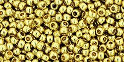 11/0 Round Toho Yellow Gold Metallic  pf559