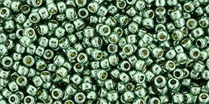 11/0 Round Toho Jade Green Metallic  pf589