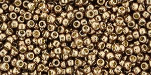 11/0 Round Toho Almond Brown Metallic  pf593