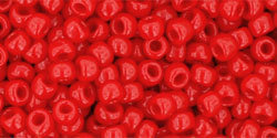 8/0 Round Toho Opaque Cherry Red  45a