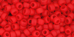 8/0 Round Toho Opaque Cherry Red mt 45af
