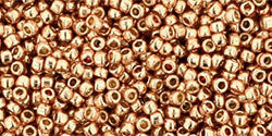 15/0 Round Toho Rose Gold Metallic  pf551