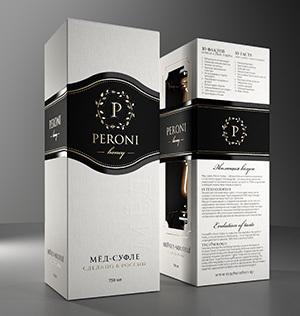 Набор меда-суфле Peroni Роскошные Коктейли (нарядная коробка, большие нарядные банки): Мелисса, Абрикос и Клубникас):