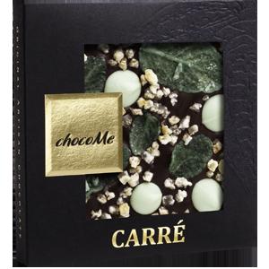 Горький шоколад c курчавой мятой, пастилками с лаймом и лимонной цедрой (50 гр)