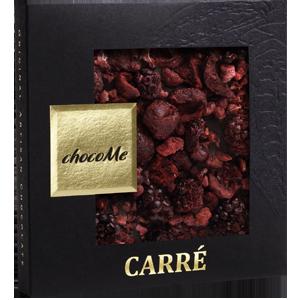 Горький шоколад  с кусочками малины, вишни и ежевики (50 гр)