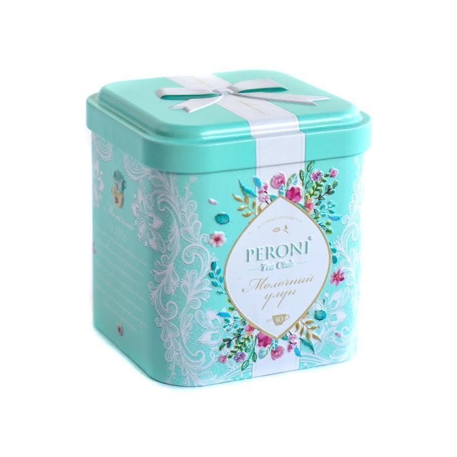 Чай зеленый Peroni Tea Funny Молочный Улун, жестяная банка