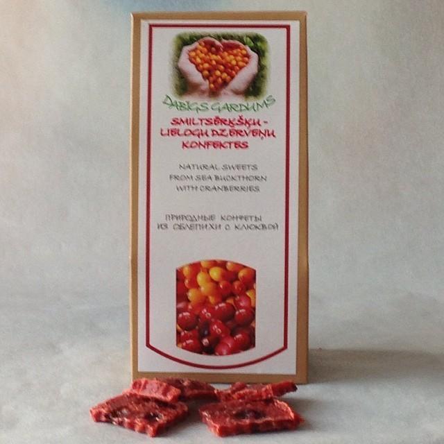 Натуральные мармеладные конфеты, Облепиха-Клюква