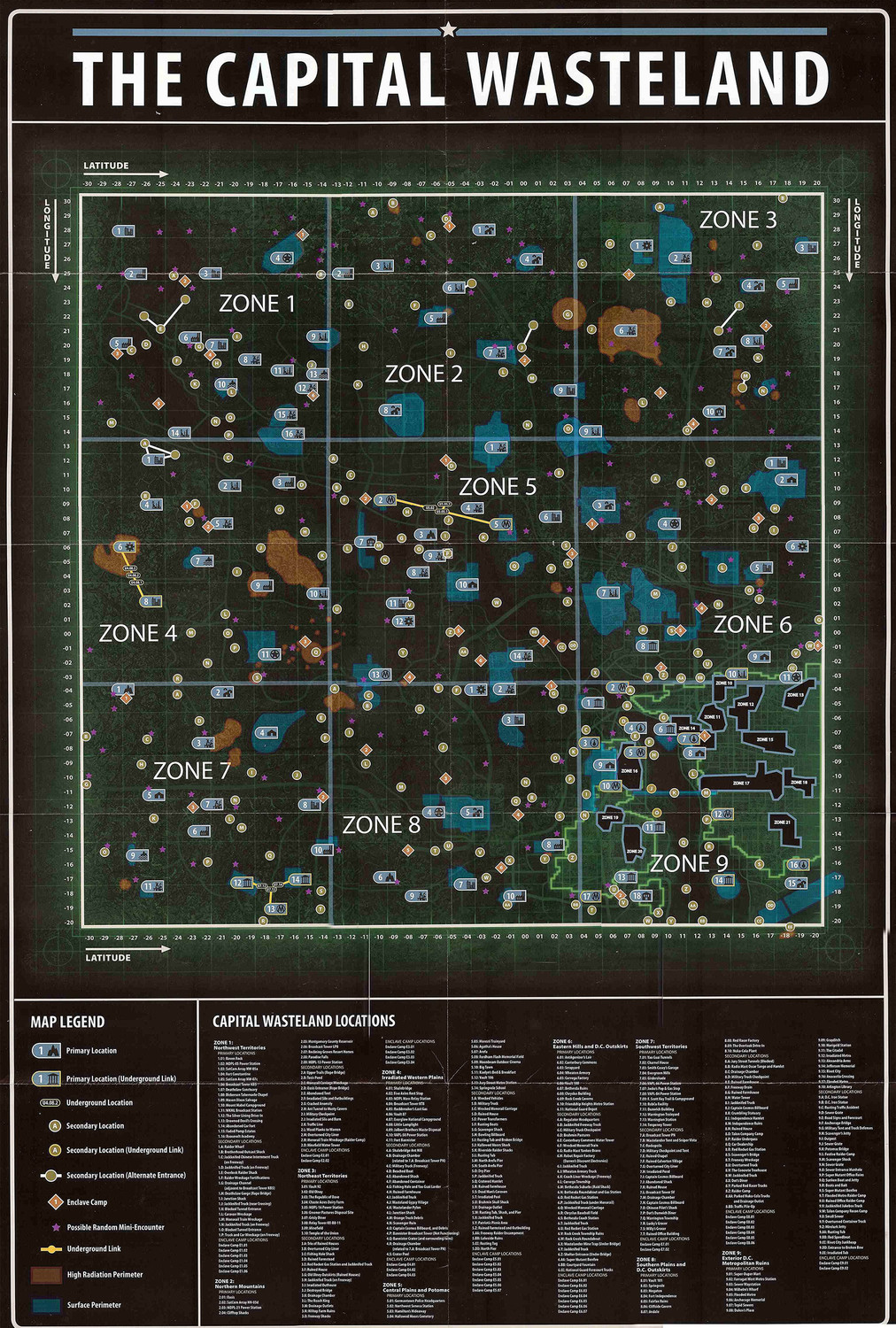 Map of the Capital Wasteland (Fallout 3)